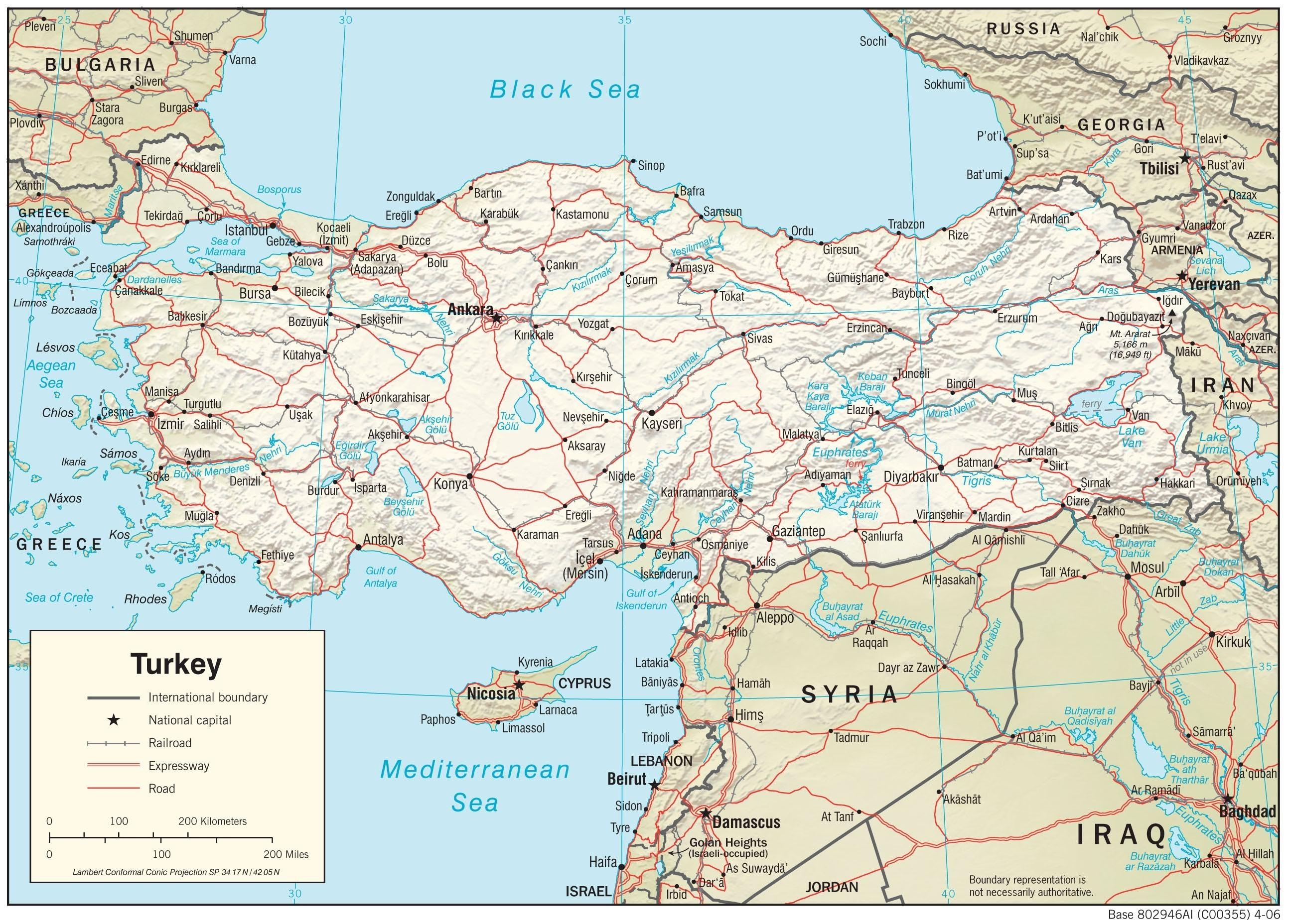 Show The Map Of Asia.Map Of Turkey Show Map Of Turkey Western Asia Asia