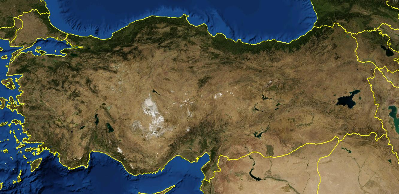 Turkey satellite map - Map of Turkey satellite (Western Asia - Asia)