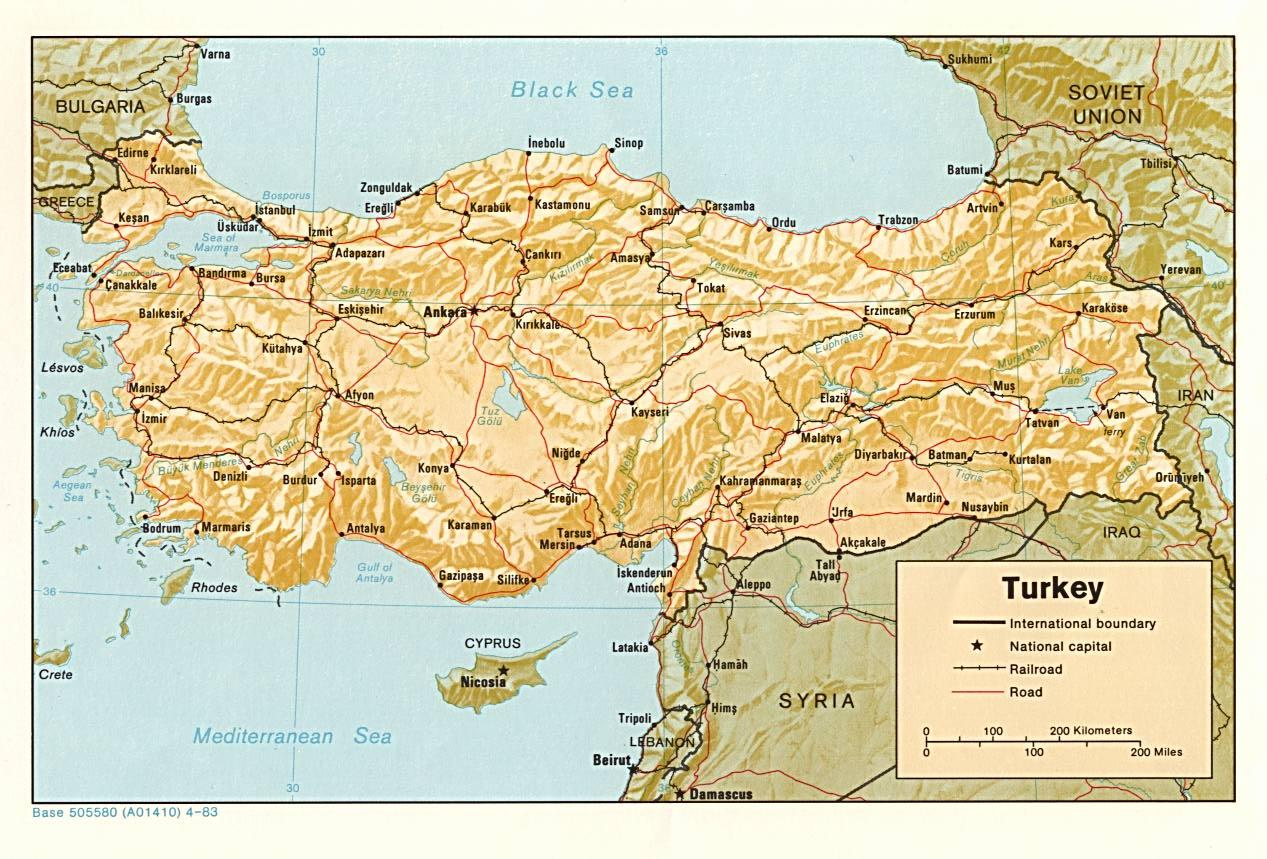 Turkey train route map - Map of Turkey train route (Western Asia - Asia)