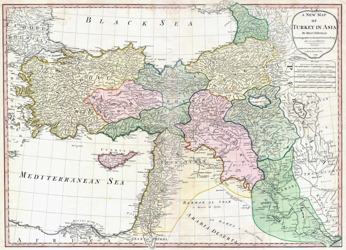map of Turkey ancient