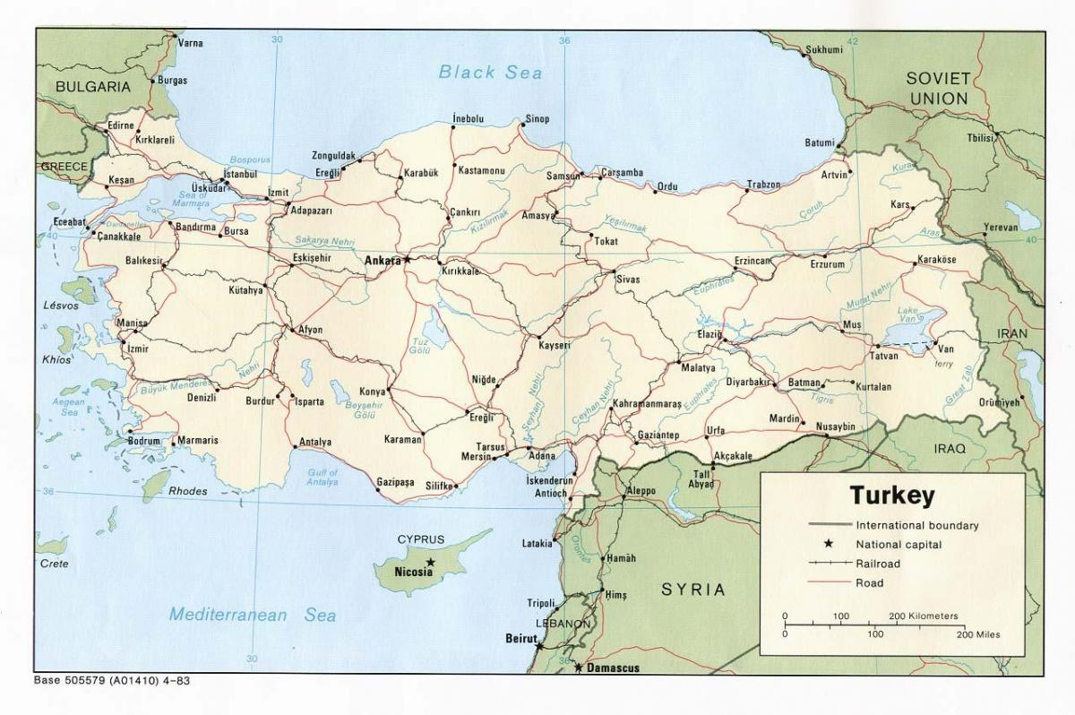 show me a map of Turkey