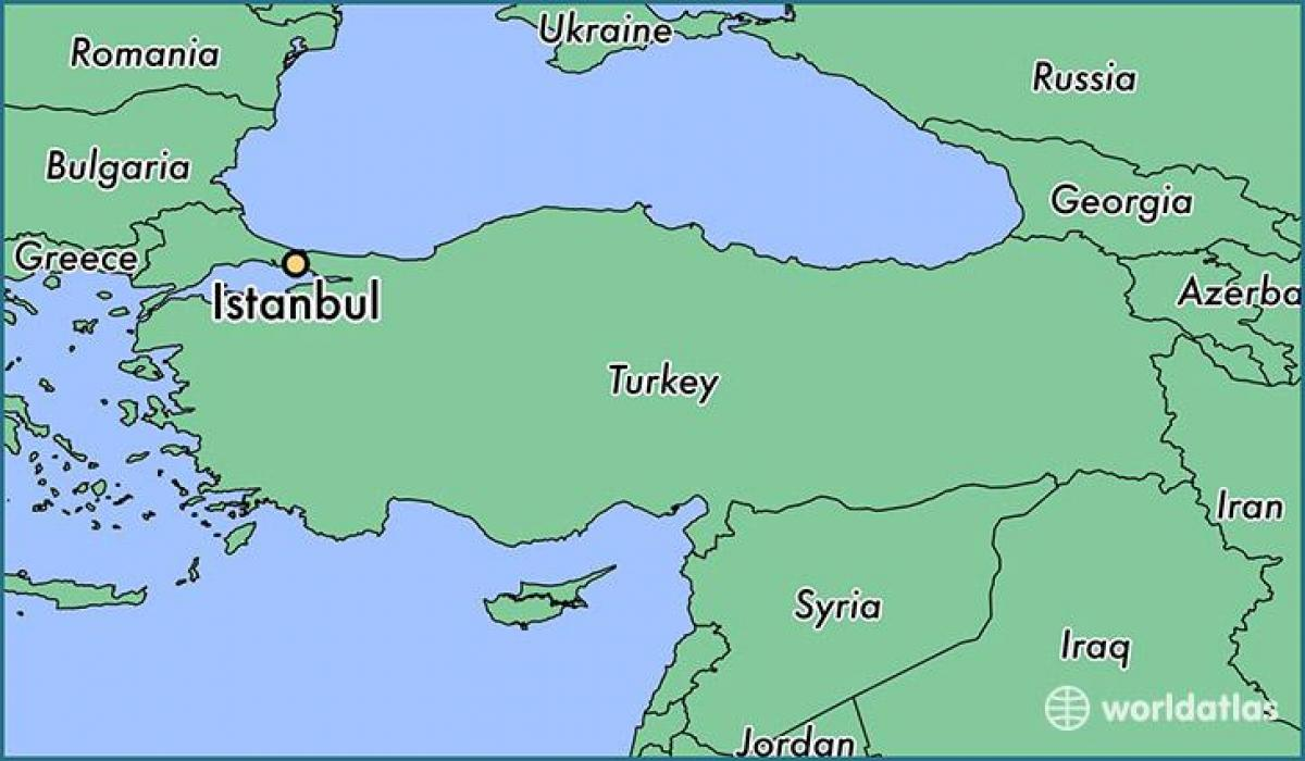 Turkey map in world map - Turkey map world atlas (Western ...
