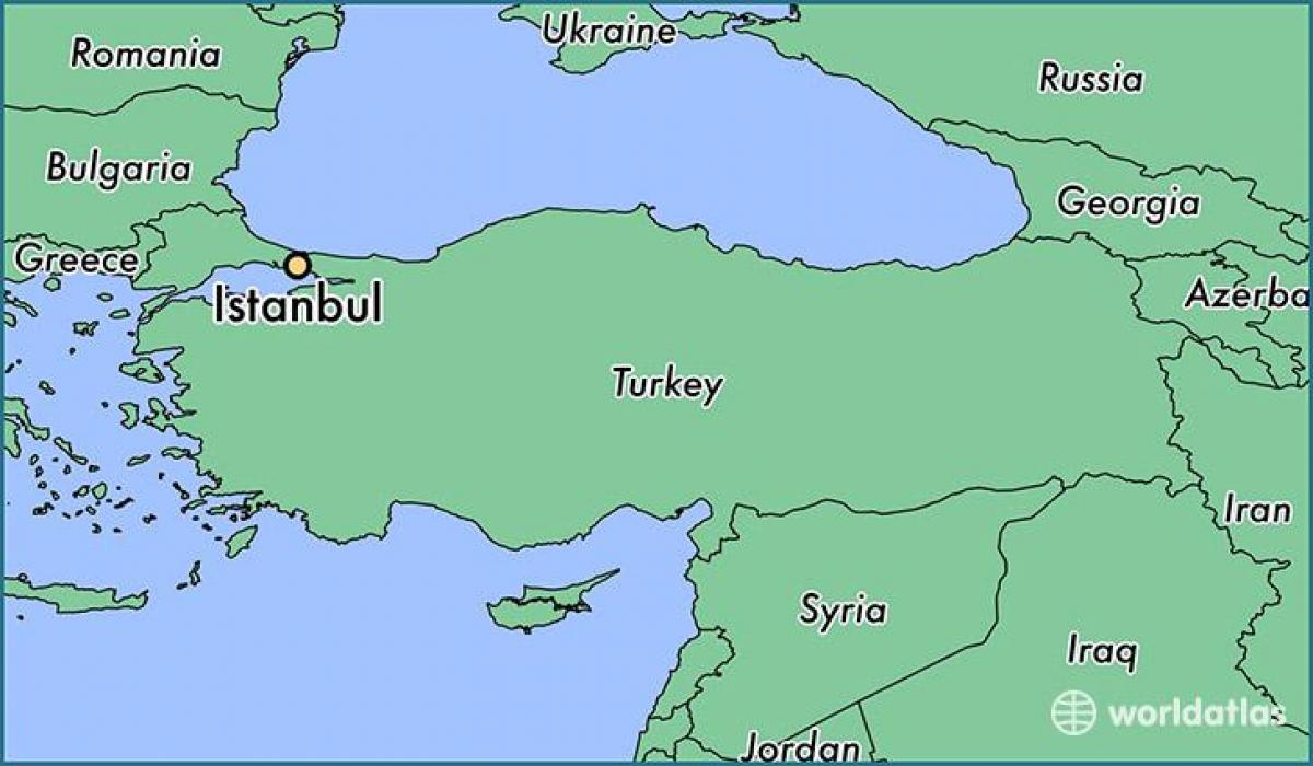 Turkey map in world map turkey map world atlas western asia asia turkey map world atlas gumiabroncs Images