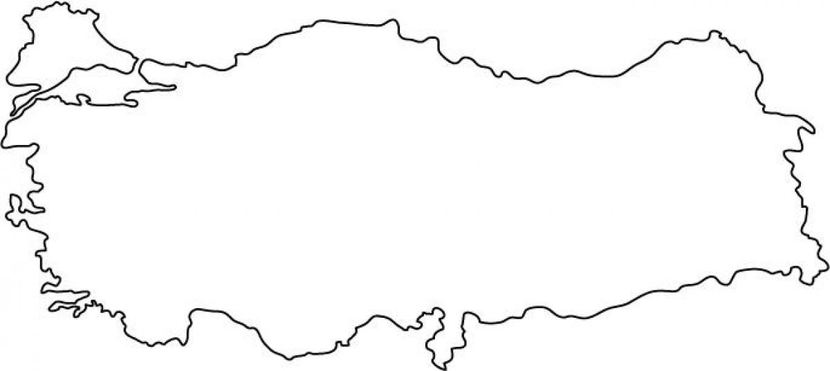 Turkey Map Outline Map Of Turkey Outline Western Asia Asia