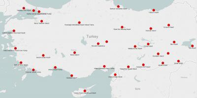Map of Turkey airports