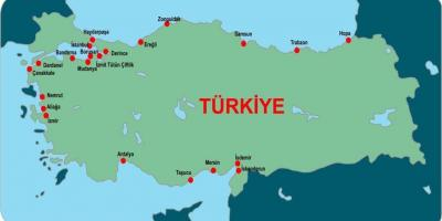 Map of Turkey ports