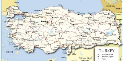 Map of Turkey country