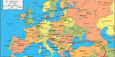 Map Of Europe And Turkey.Turkey Map Europe Map Of Turkey Europe Western Asia Asia