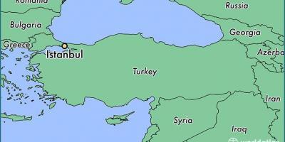 Turkey location on world map - Turkey country in world map ...