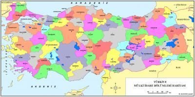 Provinces of Turkey map